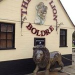  The Lion outside the pub