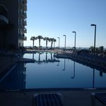  Early morning view of outdoor pools