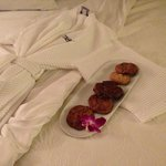 Nightly turn down service.... cookies in the lobby nightly