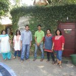All of us with Hari Krishna of Molly's (in green)