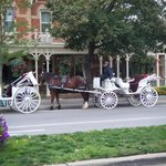 Horse and carriage outside the hotel