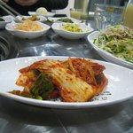 Banchan (side dishes that accompany your meal).