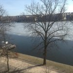 view from our room, the lake is frozen, it is supposed to be spring.