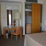 Seaview room with desk and in-room safe