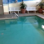 indoor pool small but heated and very nice warm tropical atmosphere