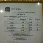The room rates
