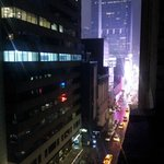 view out the window of room #904 of the lights of Times Square-45th St. & 7th Ave