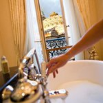 Enjoy the Opera Garnier view from your bathroom
