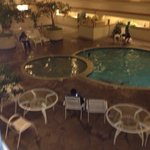 Pool view from our room on the 2nd floor