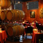 Dine in our Barrel Room
