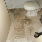 Floor in bathroom was not so cleam