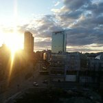  View from balcony - Radisson Blu and Oslo Central from afar, construction site below