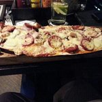 flat bread pizza at The Village - lush !