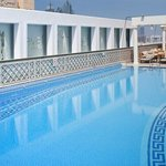 relax in our temperature-controlled outdoor pool