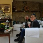  Enjoying tea in the Garden Room