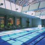 Indoor swimming pool keeping the pleasant temperature