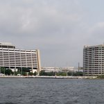  View from the Seven Seas Lagoon of the Contemporary and Bay Lake