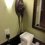 Room 313 Blow dryer in bathroom