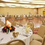 Ballroom with wooden dance floor