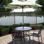 Patio and Lake