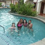 In the pool!