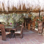 palapa breakfast/relaxing area