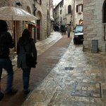 The narrow streets of Assisi