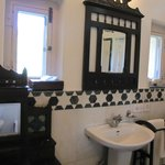  the bathroom with its old world charm
