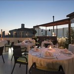  Roof Garden at Night at Risorgimento Resort Lecce