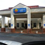  The entrance of Comfort Inn