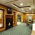  Our beautiful lobby with fireplace
