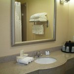 Holiday Inn Express Galveston Guest Bathroom