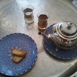  welcome mint tea at Dar Rbab