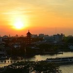 Sunset over Chao Praya river, from the roof terrace