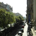 view towards las ramblas from our balcony