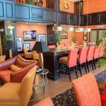  Hampton Inn vista ridge relaxing lobby with comfortable chairs