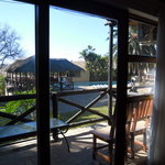 In room view of the lodge pool