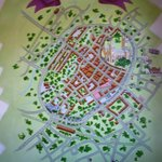 Canterbury wall map all'ostello