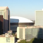 View of the Super Dome from the Roof Top Patio