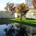  The Barnes Foundation; View of reflecting pond from entrance