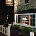 Night view of the entrance to the Red Fox Inn & Tavern