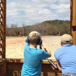  Clay shooting....Nice shot...!
