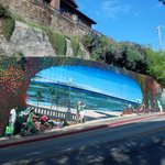 Mural on the side of the road (while going to Capitola from the campsite)
