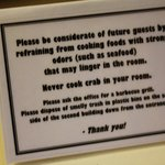  A sign in the kitchen