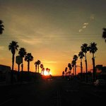 Enjoy a peaceful sunset on Twentynine Palms Highway