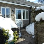  Coach house patio in snow