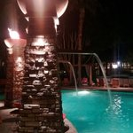  Interesting fire columns at the pool