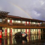 Rainbow over Cedar Lodge Motel