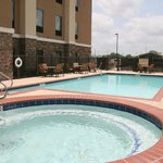 Outdoor pool and whirlpool