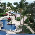  Looking unto the pools from our room
